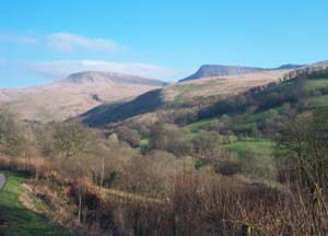 View of Fan Foel from Llanddeusant